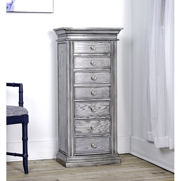 Aitkin Standing Jewelry Armoire with Mirror by Canora Grey