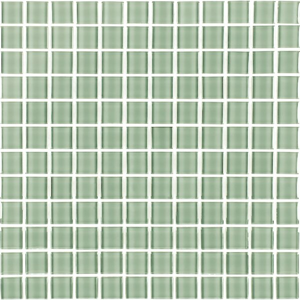 Metro 1 x 1 Glass Mosaic Tile in Celery by Abolos