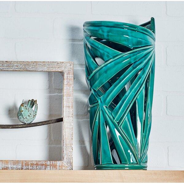Crawford Pierced Leaf Table Vase by Bay Isle Home