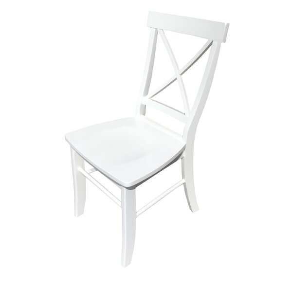 Ed Solid Wood Dining Chair by Highland Dunes