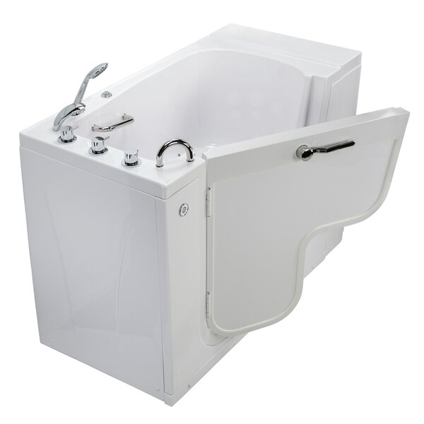 Transfer L Shape Wheelchair Accessible Microbubble Heated Seat 52 x 30 Walk-in Combination Bathtub by Ella Walk In Baths
