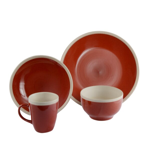Alecto 16 Piece Dinnerware Set, Service for 4 by ColorUs China