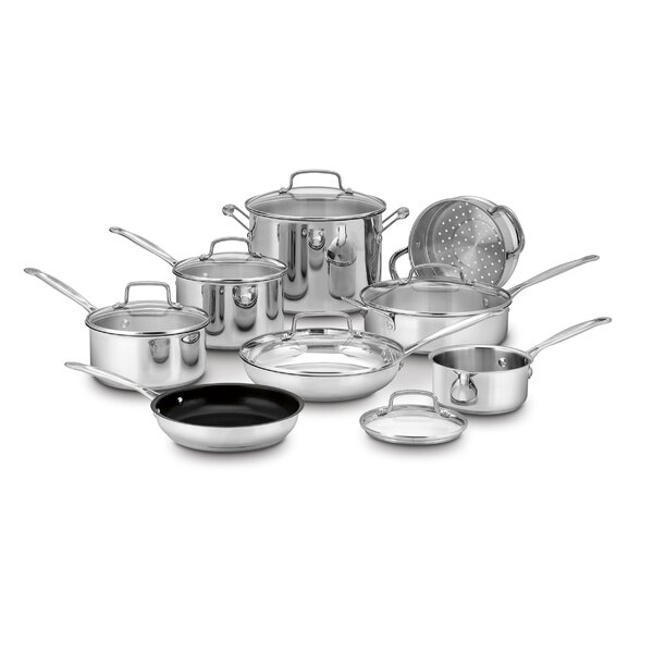 14-Piece Stainless Steel Cookware Set by Cuisinart