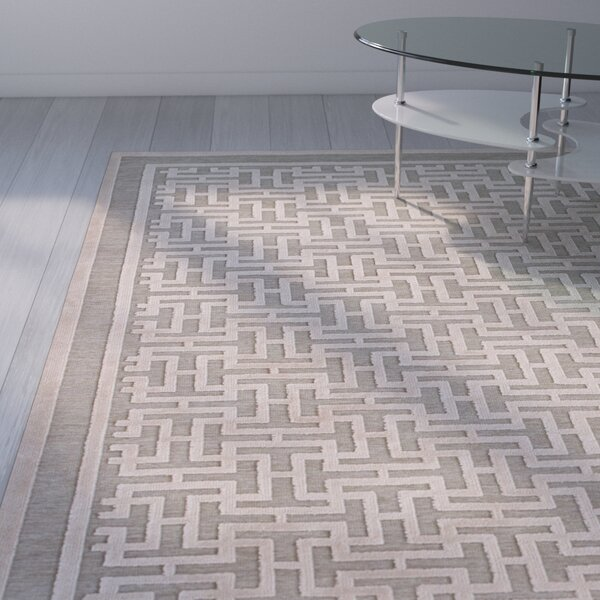 Cassandra Pewter/Light Gray Area Rug by Orren Ellis