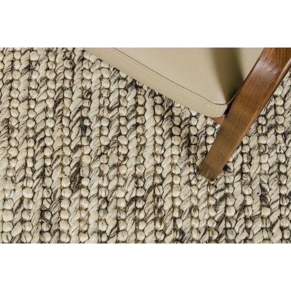 Marty Hand-Woven Beige Area Rug by Corrigan Studio