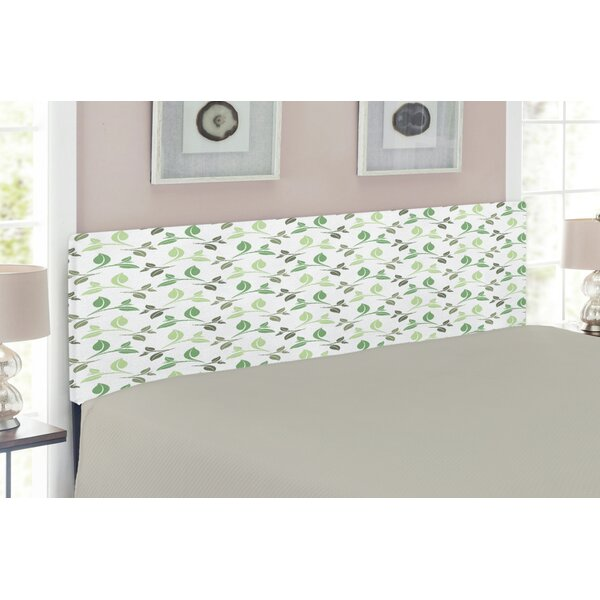 Leaf Upholstered Panel Headboard by East Urban Home