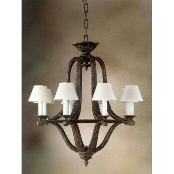 Almeria 8-Light Shaded Empire Chandelier by Zanin Lighting Inc. Zanin Lighting Inc.