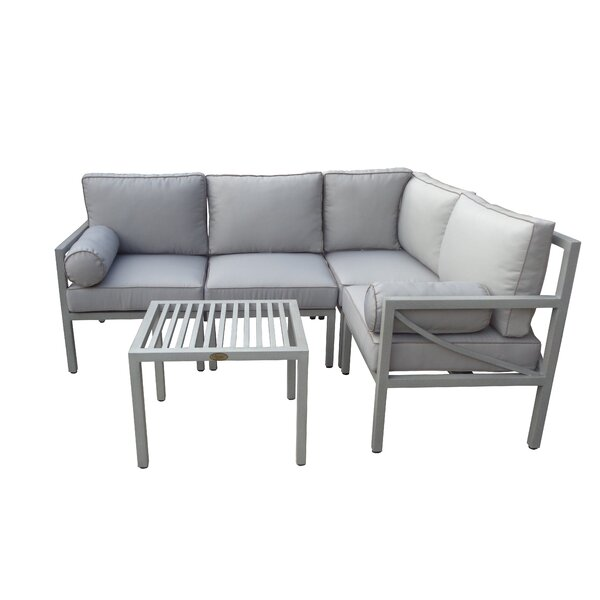 Wrigley 5 Piece Sectional Seating Group with Cushions by Brayden Studio