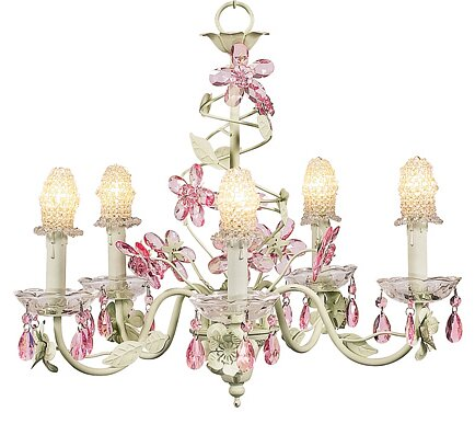 Flower 5-Light Shaded Chandelier by Jubilee Collection