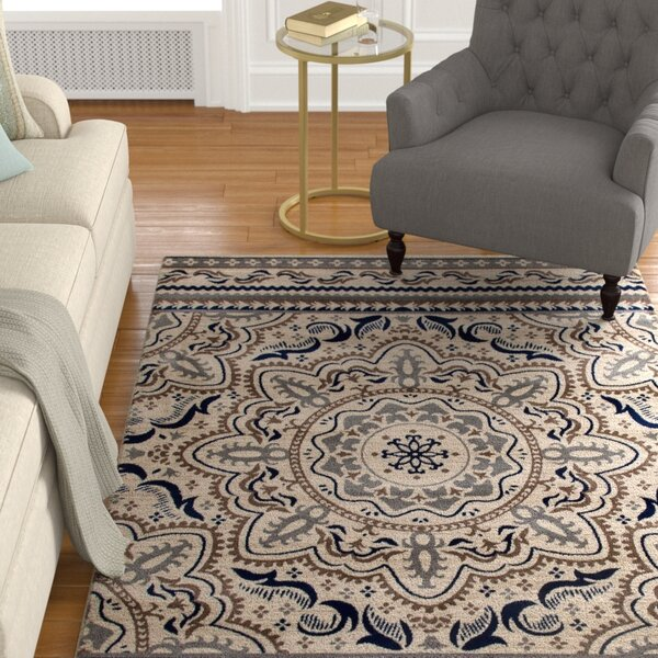 Highland Beige Area Rug by Charlton Home