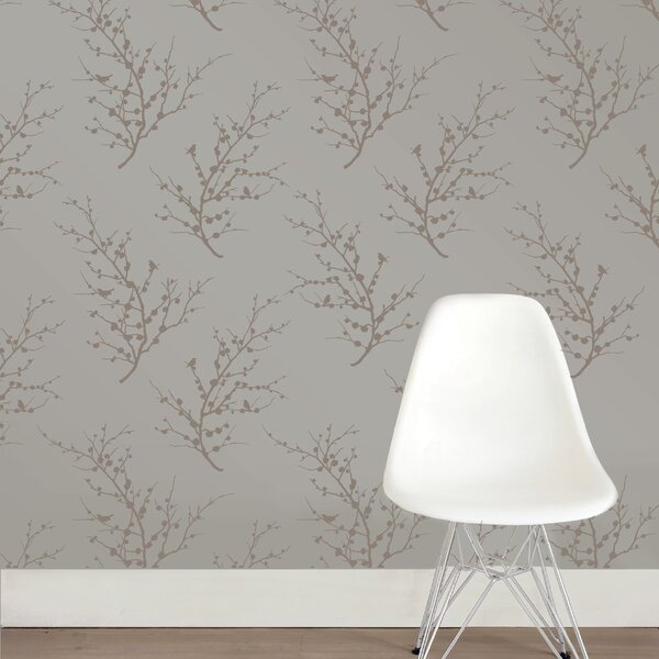 Tempaper® Edie Self-Adhesive, Removable Botanical Panel Foiled Wallpaper Roll by Tempaper