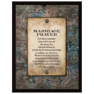 Marriage Prayer... Textual Art Plaque by Dexsa