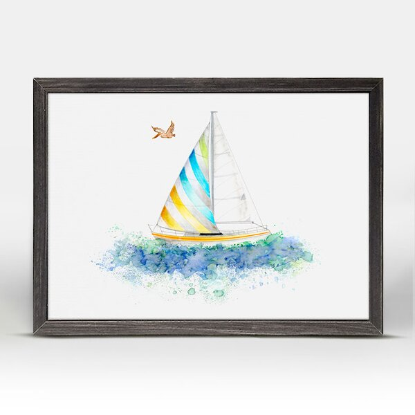 Kelvin Sailboat Mini Framed Canvas Art by Harriet Bee