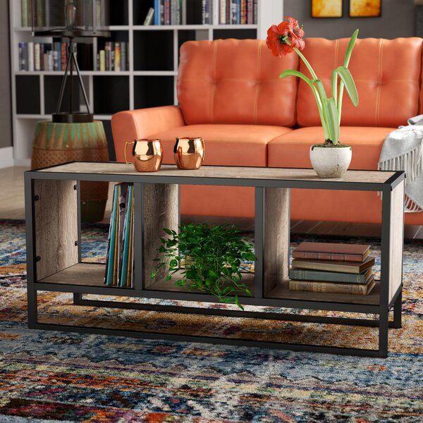 Hollie Coffee Table with Storage Shelf by Williston Forge Williston Forge
