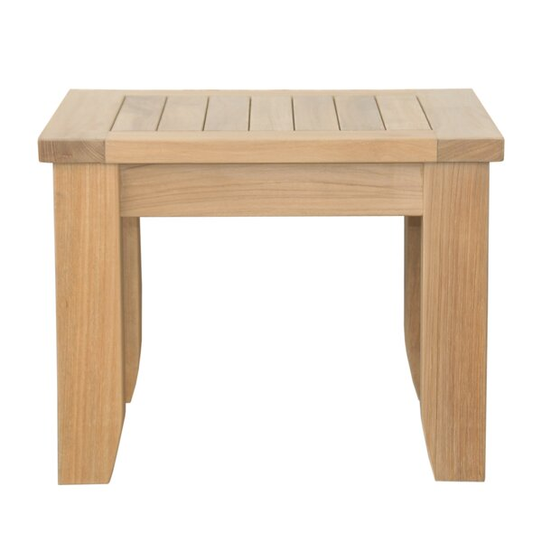 Luxe Solid Wood Side Table by Anderson Teak