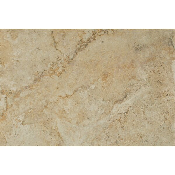 Forge Ink Jet Brushed Texture 13 x 20 Porcelain Tile in Beige by Bedrosians