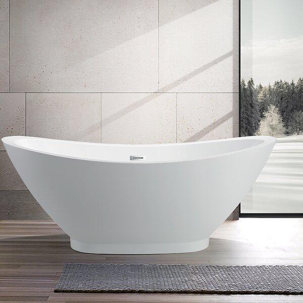69 x 32 Freestanding Soaking Bathtub by Vanity Art