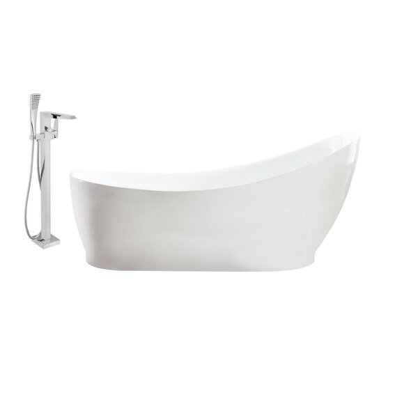 68 x 35 Freestanding Soaking Bathtub by Streamline Bath
