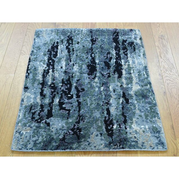 One-of-a-Kind Coghlan Abstract Design Handwoven Wool/Silk Area Rug by Isabelline
