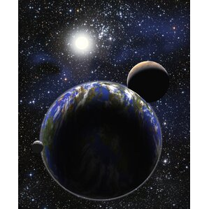 Earth, Moon And Mars Poster Wall Mural Part 58
