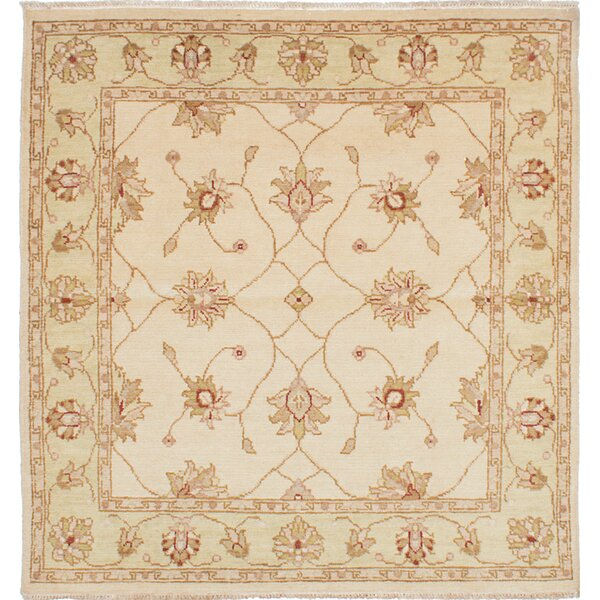 One-of-a-Kind Liadan Hand-Woven Cream Area Rug by Isabelline