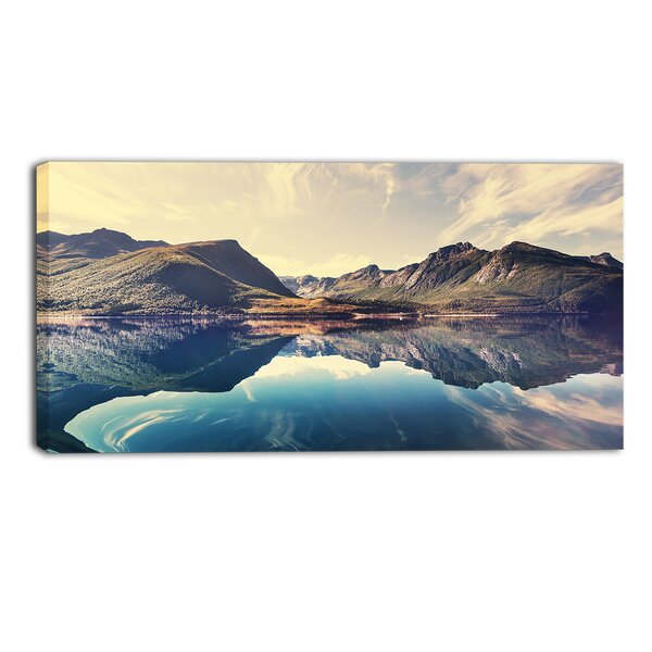 Norway Summer Mountains Landscape Photographic Print on Wrapped Canvas by Design Art