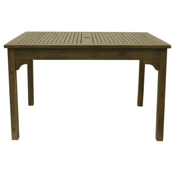 Aranmore Well Wooden Dining Table by Beachcrest Home