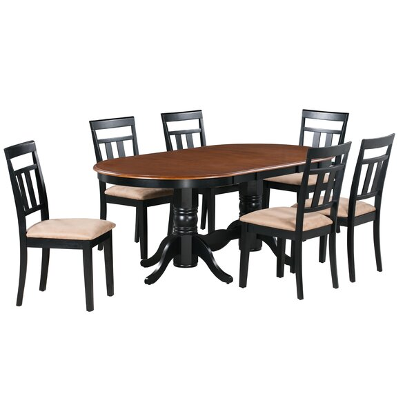 Jaylin 7 Piece Extendable Solid Wood Dining Set by Alcott Hill