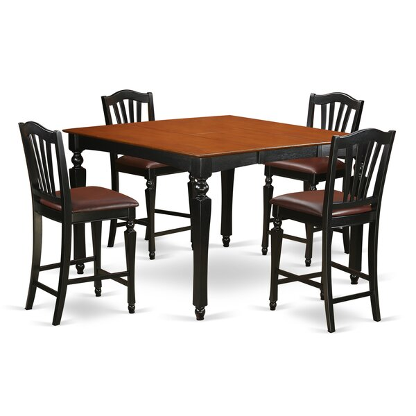 Ashworth 5 Piece Counter Height Extendable Dining Set by Darby Home Co