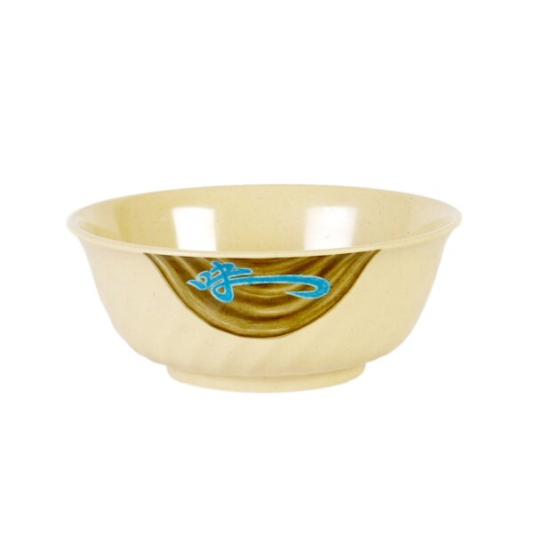 Heidi 32 oz. Melamine Swirl Cereal Bowl (Set of 12) by Bloomsbury Market