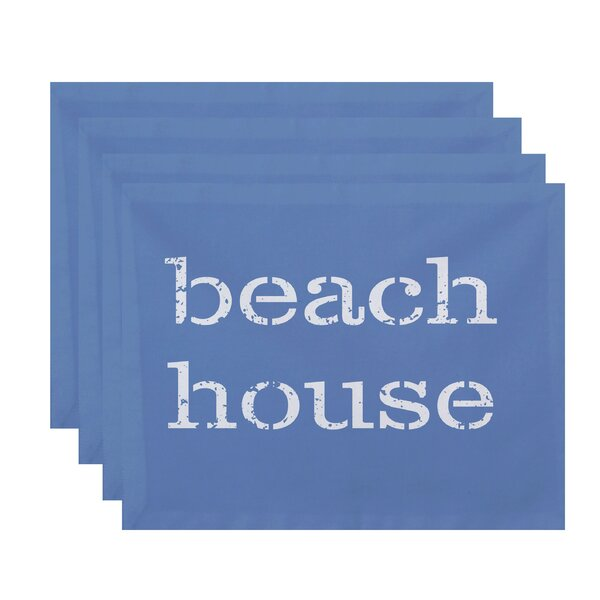 Cedarville Beach House Word Placemat (Set of 4) by Highland Dunes