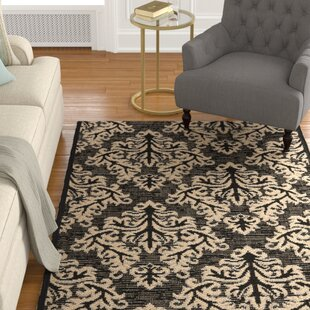 feature Find Octavius Black/Cream Indoor/Outdoor Area Rug By Charlton Home