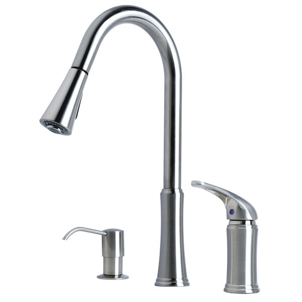 Pull-Down Single Handle Kitchen Faucet by Laguna Brass