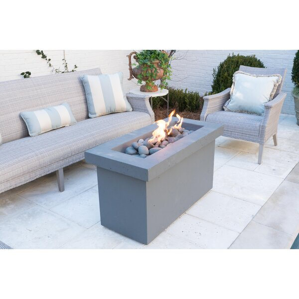 Urban Series Stone Propane Fire Pit Table by BayPointe Outdoors
