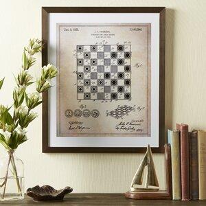 Checker Board Framed Blueprint by Birch Lane™