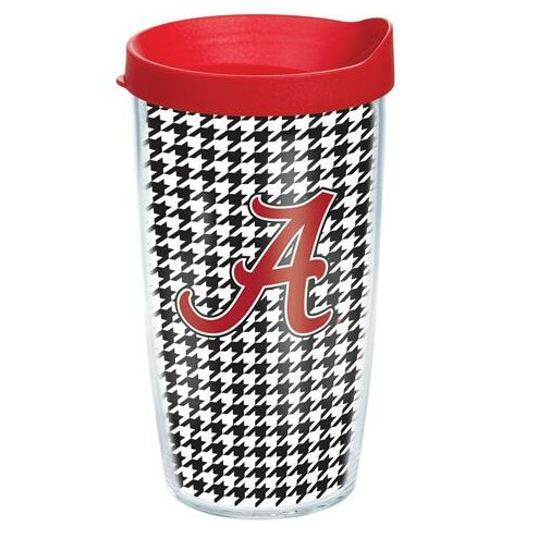 Collegiate Alabama Houndstooth Plastic Travel Tumbler by Tervis Tumbler