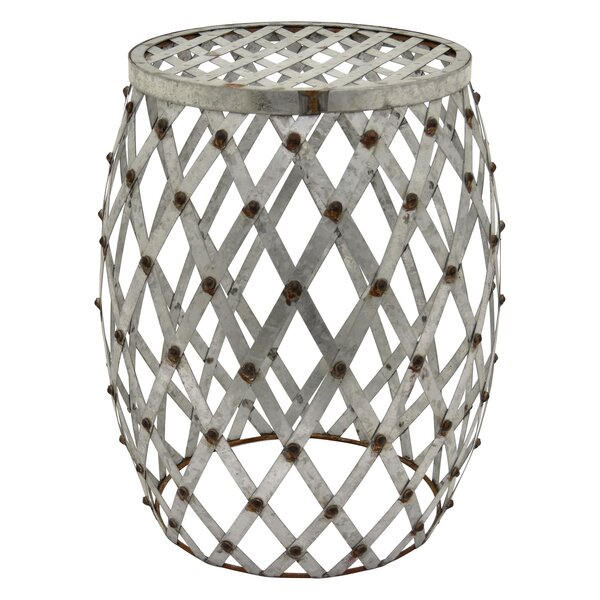Flavia Metal Accent Stool by Gracie Oaks