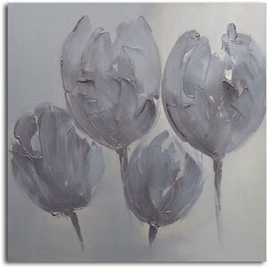 Tulips in Neutral Painting on Canvas by Omax Decor