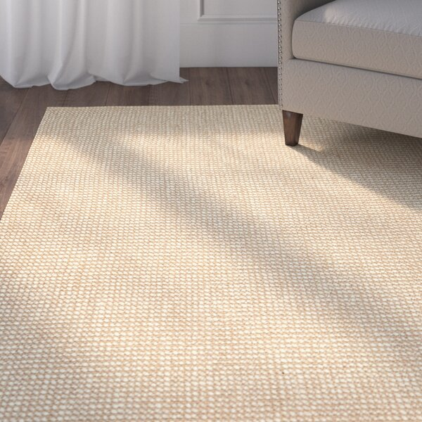 Hand-Woven Beige Area Rug by Birch Lane™