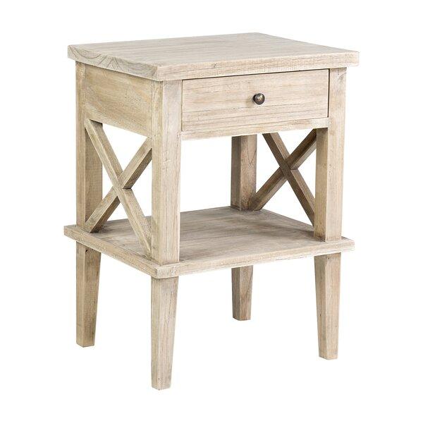 Review Destrey Mindi Wood End Table