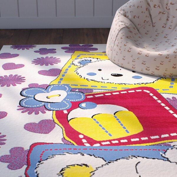 Luann Cream Area Rug by Zoomie Kids