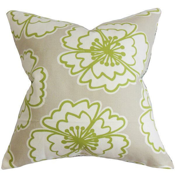 Winslet Floral Cotton Throw Pillow by The Pillow Collection