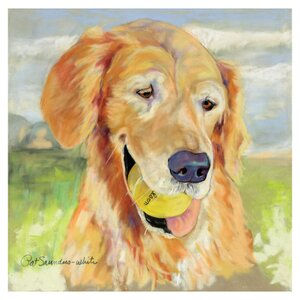 'Gus' by Pat Saunders-White Painting Print on Canvas by Trademark Fine Art