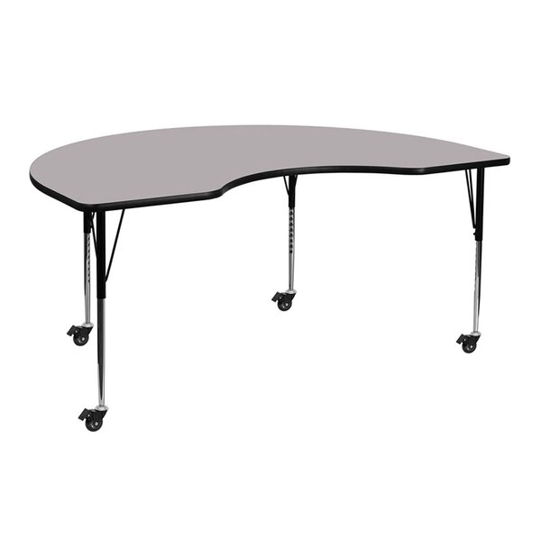 Mobile 72''L x 48''W Kidney Shaped Activity Table by Offex