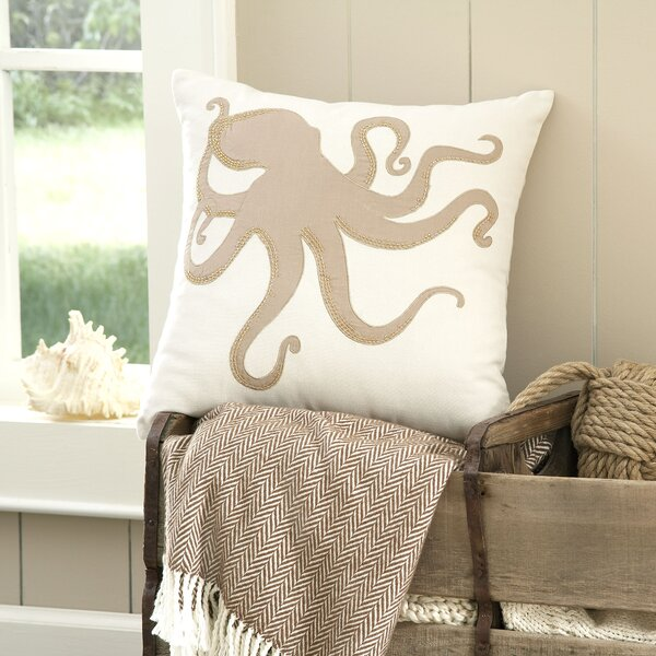 Octopus Marina Embellished Pillow Cover by Birch Lane™