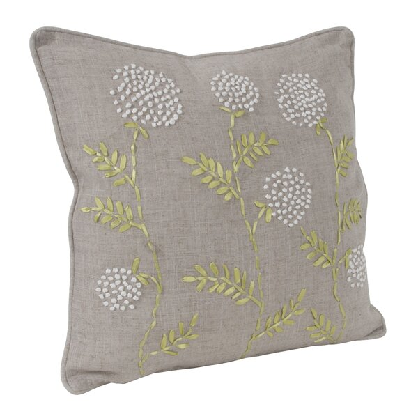 Ribbon Embroidered Throw Pillow by Saro