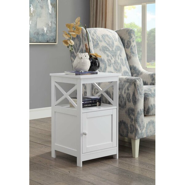 Stoneford End Table with Storage by Beachcrest Home