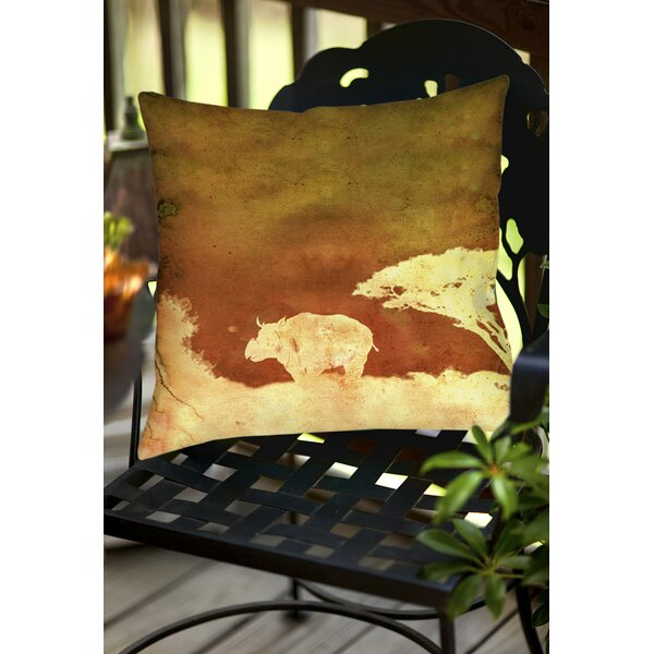 Safari Sunrise 2 Indoor/Outdoor Throw Pillow by Manual Woodworkers & Weavers