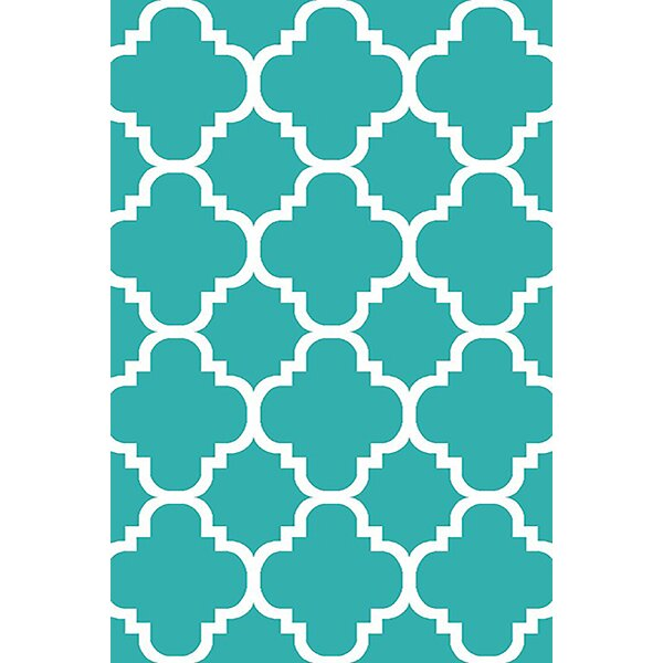 Mccampbell Turquoise Area Rug by Ivy Bronx