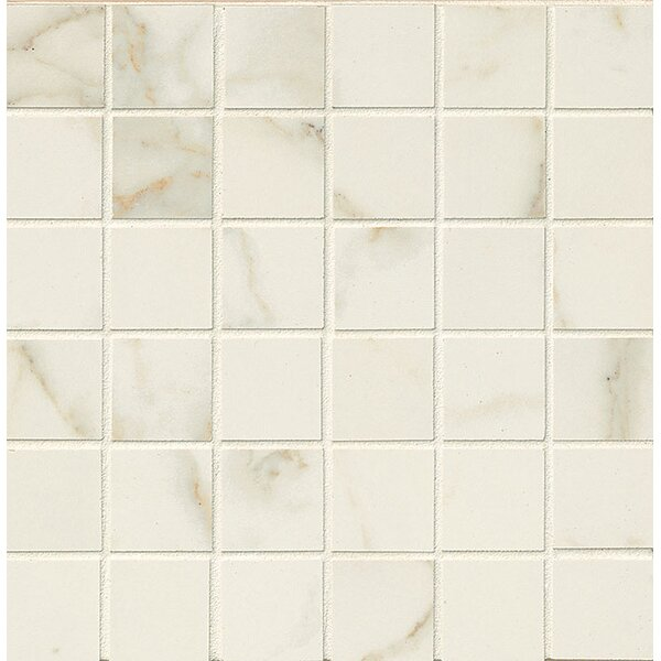 Classic Moderne 2 x 2 Porcelain Mosaic Tile in Calacatta by Grayson Martin